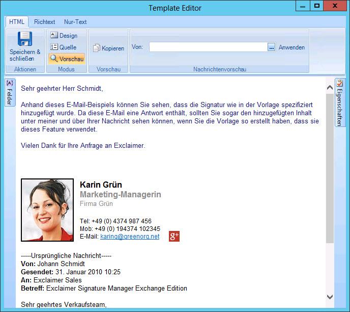 E Mail Signatur Auswahlen Einstellen Flowfact