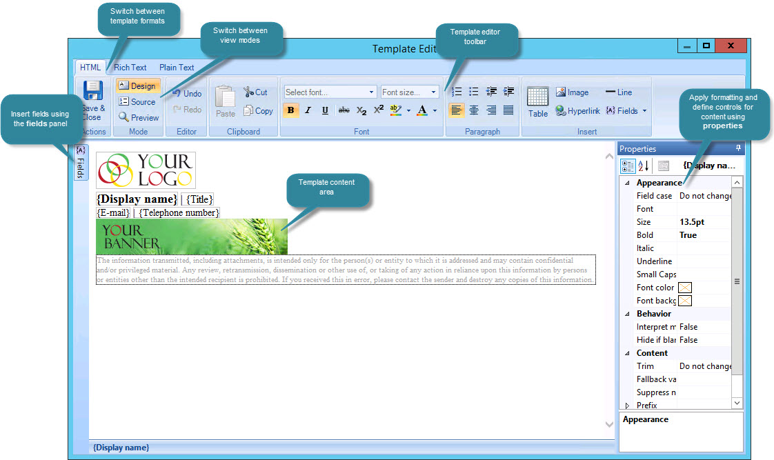 templates office 365
