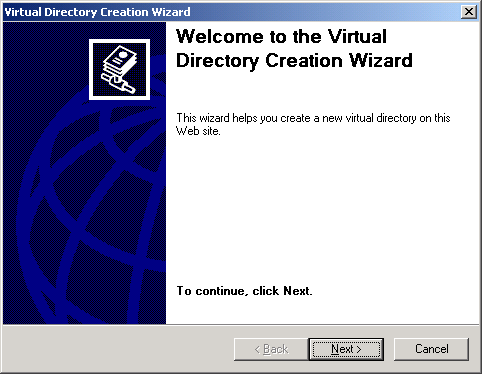 Virtual Directory Creation Wizard