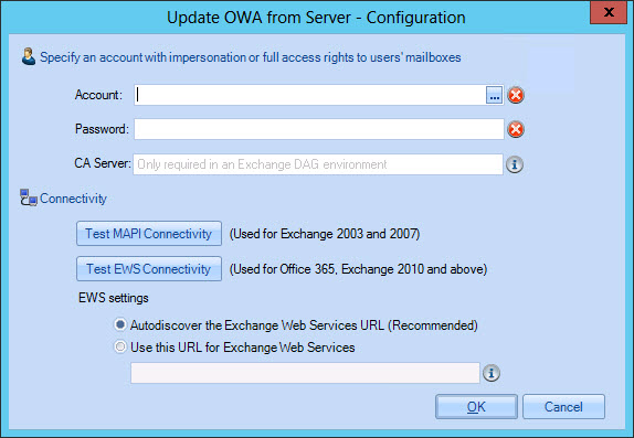 Configure OWA server updates